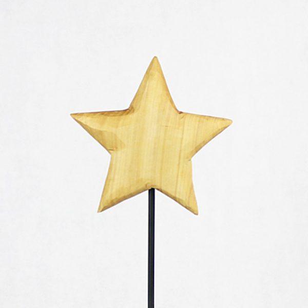 Stern zum Austecken auf einen Fuss - Metalllfuss
