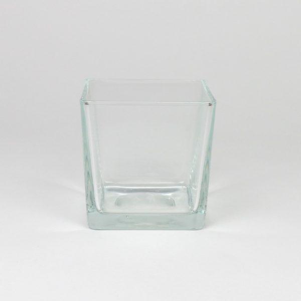 Windlicht aus Glas quadratisch