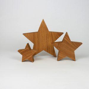 3 er Set Holzsterne - für Weihnachten